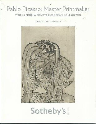 SOTHEBY'S London PICASSO Prints European Collection Auction Catalog 2010