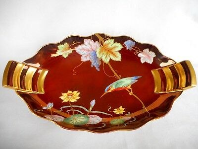 A Carlton Ware Bowl / Dish Decorated In The ' Kingfisher & Water Lily ' Pattern.