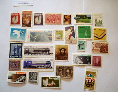 Canada Unused and Unfranked Stamps f/v $43.18