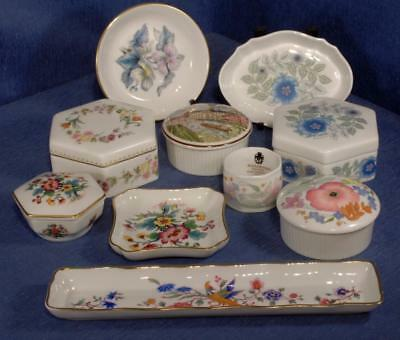 5 x Lidded Trinket Boxes - 3 x Pin Dishes - Napkin Ring - Pen Tray - (10 pieces)