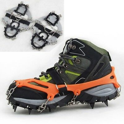 New Outdoor Crampons 12 Teeth Ice Gripper Spike Shoes Cover Mountaineering Gear