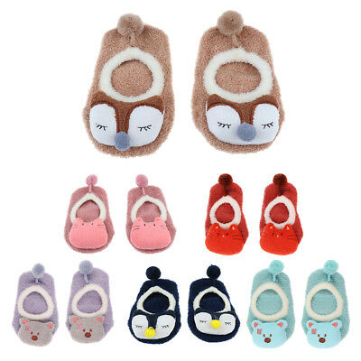6 Pairs Unisex Baby Ankle Socks Non Slip for 2-4 Years Old Kids