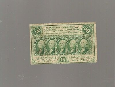 50 cent U.S POSTAGE CURRENCY/1862