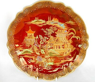 A Carlton Ware Shallow Bowl Decorated In The Mikado Pattern ~ Gorgeous Look !