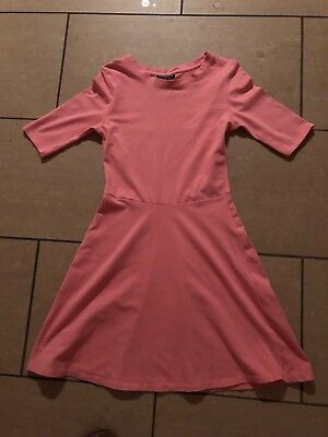 Topshop Pink skater Dress Sz 8