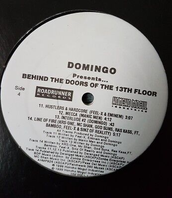 domingo behind the doors of the 13th floor hip hop lp krs rass kass eninem rap