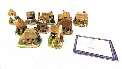Job Lot Of 10 x Various LILLIPUT LANE Cottage ORNAMENTS With Certificates - G28