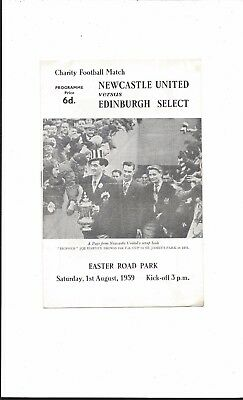 HEARTS & HIBERNIAN v NEWCASTLE UNITED 1959 CHARITY MATCH GOOD CONDITION