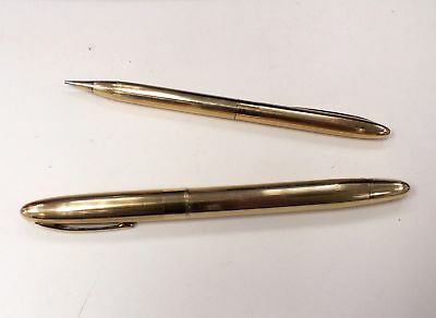 Vintage SHEAFFER Mechanical Pencil + 14k YELLOW GOLD Tone Fountain Pen  - W27