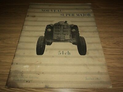 Fordson Super Major Tractor Manual / Hand Book Ford France (French Text) 1963