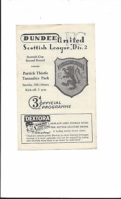 DUNDEE v PARTICK THISTLE 1959-60 SCOTTISH CUP 2nd ROUND GOOD CONDITION