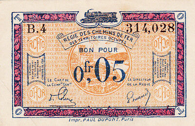 0,05 Francs Ef Banknote From  French Occupied Germany 1923!pick-R1