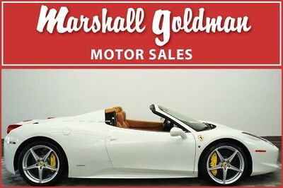 2015 Ferrari 458 Base Convertible 2-Door 2015 Ferrari 458 Italia Spider in Bianco Avus over Cuoio 4,200 miles