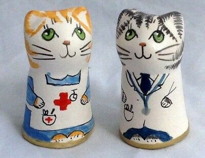 Merryfield Pottery - Hand Painted Doctor and Nurse Thimbles