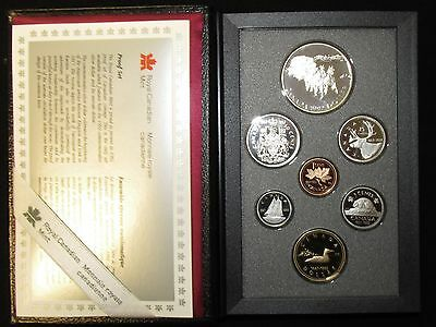 1992 Canada Proof Set With Stage Coach Silver Dollar...original Mint Pack W/coa