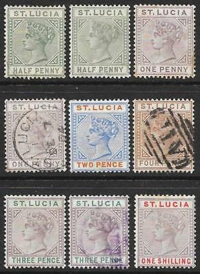 St Lucia 1891-98 Mint & Used Selection
