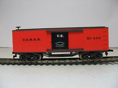HO scale old time Civil War USMRR boxcar in Halloween colors, US number 885!!