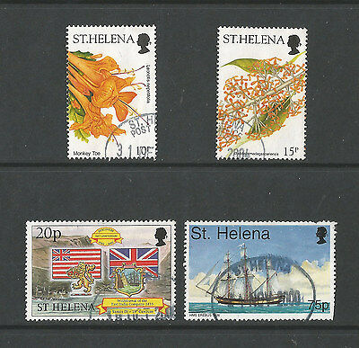 St. Helena four used stamps from 1998-2003. cv £5+  [see description]