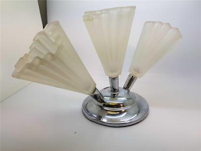 "1930's Art Deco Chrome & Glass ""Epergne"" Table Centerpiece"