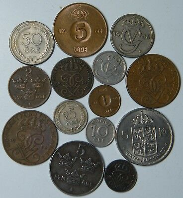 WCA 14 Coins From Sweden 1921 - 1972 Lot # 84