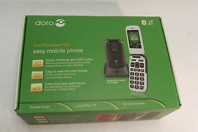Doro Phone Easy 610  (Unlocked) Mobile Phone with box