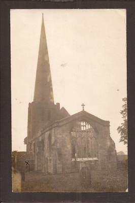Breadsall Church Fire-The Aftermath. 1914. W.W.Winter, Derby RP.