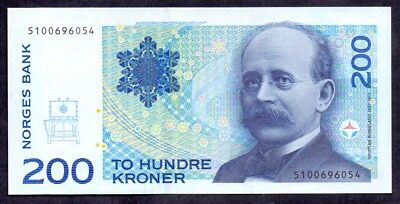 200 Kroner From Norway 1994 Unc