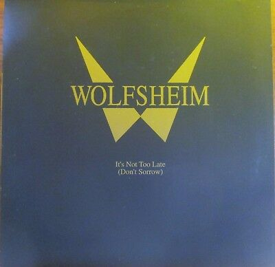 Maxi-Single -  Wolfsheim = It's Not Too Late (Don't Sorrow) .....1992(Synth-Pop)
