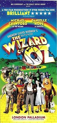 Michael Crawford + Danielle Hope Hand Signed The Wizard Of Oz Uk Theatre Flyer