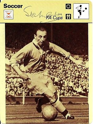 Stanley Matthews Hand Signed Autographed 1978 Football Sportscaster Photo Card