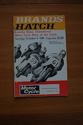 Brands Hatch Evening News International  9/10/66 Programe
