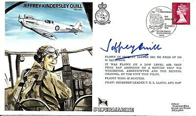 Jeffrey Quill Autographed Flown Raf Tp10 Fdc Hand Signed