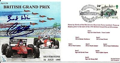 Formula One F1 Johnny Herbert Hand Signed Autographed Red Arrows Grand Prix Fdc