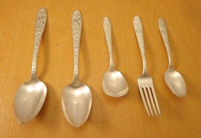 """National Silver Co. AA, 5 Piece Lot of """"Narcissus"""" c: 1935"""