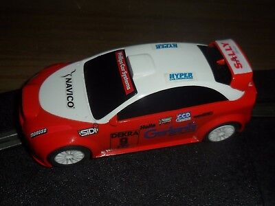 Scalextric Ford Focus style touring / rally car blue # 9 Superb and fast