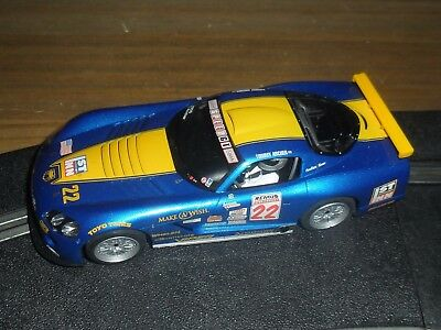 Scalextric Dodge Viper touring / muscle car # 22 Superb and fast with lights