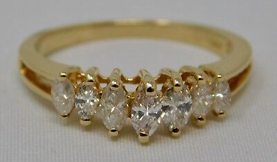 Estate 14K Gold Diamond Ring .26 Tcw J/k I-1 2.7 Grams Size 5.75