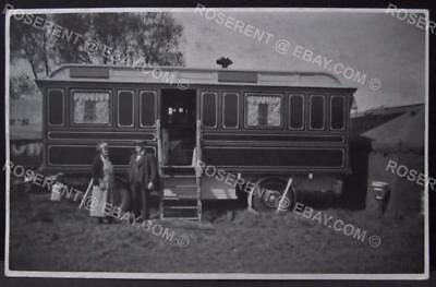 1943 Bristol -Horfield Common Fair -James Heals Living wagon Postcard size photo