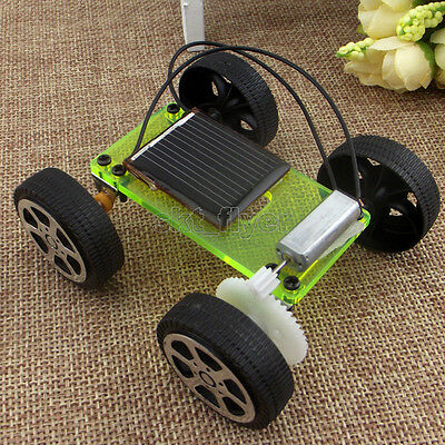 Electric Solar Toy Car Model DIY Educational Gadget Hobby Robotic Hobbies Kid