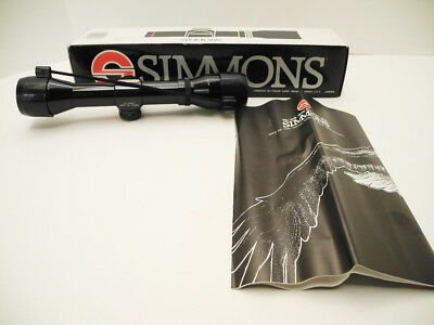 Simmons 4 X 32 Water Proof Pistol Scope #1084 With Box and Instructions NEW