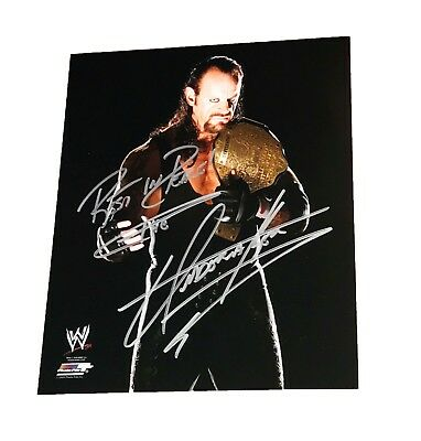 Wwe The Undertaker Hand Signed Autographed 8X10 Photofile Photo With Coa Rip