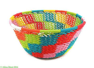 Zulu Basket Telephone Wire Small Bowl South African Art