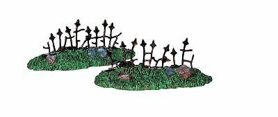 Lemax~Spooky Town Collection~Set Of 2~Rusty Old Fence~Cemetery~Halloween Mini