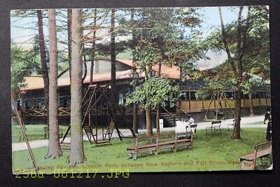 c.1917 Postcard Dancing Pavilion Lincoln Park New Bedford, Mass. - Posted