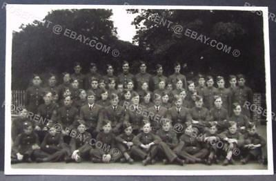 cWW2 RAF - Air training Corps Boys & Officers- Group Photo - Real Photo Postcard