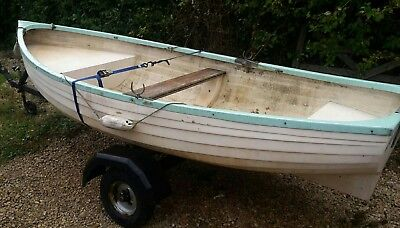 Small fishing boat project with trailer & outboard engine