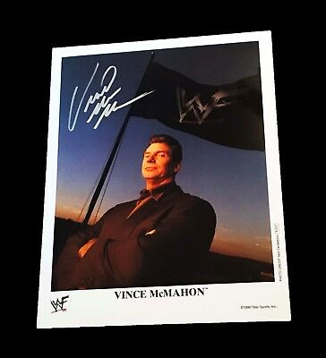 Wwe Vince Mcmahon Hand Signed Autographed Promo Photo With Coa 2 Very Rare