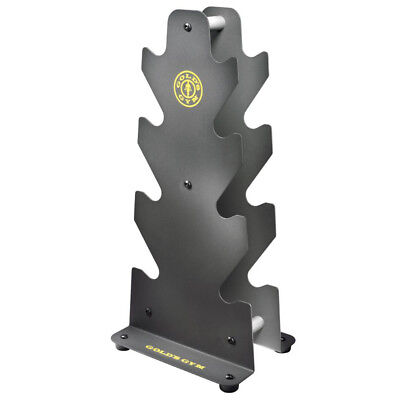 Gold's Gym Steel Strength Training Equipment 3 Tier Dumbbell Rack up to 160 Lbs
