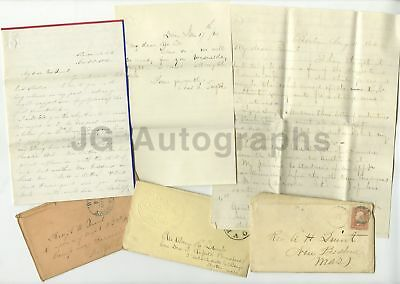 Alonzo Hall Quint - Civil War MA 2nd Inf. 3 Letters Sent to Quint - War Date