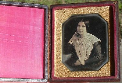 1840's Daguerreotype Lovely Young Lady